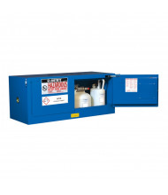 Just-Rite Sure-Grip EX 861328 Piggyback Self Close Two Door Hazardous Material Safety Cabinet, 12 Gallons, Royal Blue