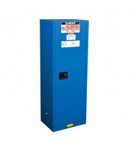 Just-Rite Sure-Grip EX 862228 Slimline Self Close One Door Hazardous Material Safety Cabinet, 22 Gallons, Royal Blue