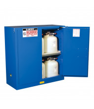 Just-Rite Sure-Grip EX 863028 Self Close Two Door Hazardous Material Safety Cabinet, 30 Gallons, Royal Blue
