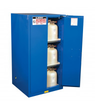 Just-Rite Sure-Grip EX 866028 Self Close Two Door Hazardous Material Safety Cabinet, 60 Gallons, Royal Blue