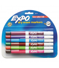 Expo Low-Odor Dry Erase Marker, Fine Point, Assorted, 12-Pack