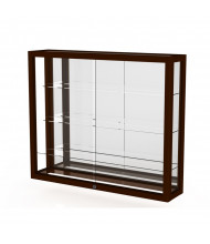 "Waddell Heirloom 890M Series Hardwood Wall Display Case 36""W x 30""H x 8""D (Shown as Cordovan / Mirror Back)"