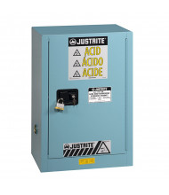 Just-Rite Sure-Grip EX 891202 Compac One Door Corrosives Acids Steel Safety Cabinet, 12 Gallons, Blue