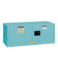 Just-Rite Sure-Grip EX 891302 Piggyback Two Doo Corrosives Acids Steel Safety Cabinet, 12 Gallons, Blue