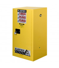 "Justrite Sure-Grip EX Compac 15 Gal Flammable Safety Storage Cabinet, 44"" H (Shown in Yellow, padlock not included)"