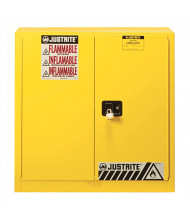 Just-Rite Sure-Grip EX 8917008 Wall Mount Two Door Flammable Safety Cabinet, 17 Gallons, Yellow
