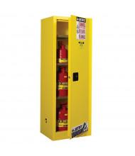 Justrite Sure-Grip EX Slimline 22 Gal Flammable Storage Cabinet (Shown in Yellow)