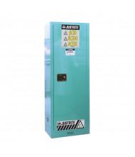 Just-Rite Sure-Grip EX 892202 Slimline One Door Corrosives Acids Steel Safety Cabinet, 22 Gallons, Blue