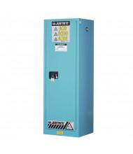 Just-Rite Sure-Grip EX 892222 Slimline Self Close One Door Corrosives Acids Steel Safety Cabinet, 22 Gallons, Blue