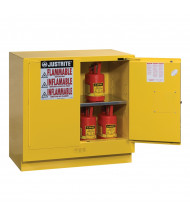Justrite Sure-Grip EX Undercounter 22 Gal Flammable Storage Cabinet (Shown in Yellow)