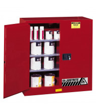 Justrite Sure-Grip EX 40 Gal Combustibles Storage Cabinet (Shown in Red)