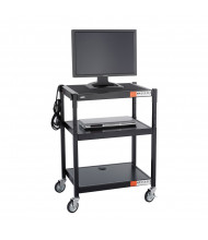 Safco Adjustable Height Steel AV Cart