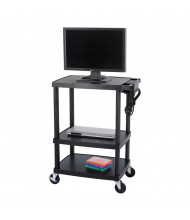 Safco 8933BL 3-Shelf Multimedia Cart (example of use)