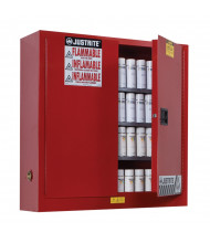Just-Rite Sure-Grip EX 8934016 Wall Mount Two Door Aerosol Can Safety Cabinet, 20 Gallons, Red