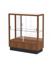 Waddell Heritage 8949M Sliding Glass Door Counter Display Case (Shown as Walnut / Mirror Back)