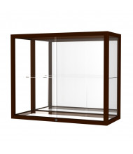Waddell Heirloom 894M Series Hardwood Display Case (Shown in Cordovan / Mirror Back)