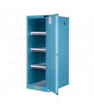 Just-Rite Sure-Grip EX 895422 Deep Slimline Self Close One Door Corrosives Acids Safety Cabinet, 54 Gallons, Blue