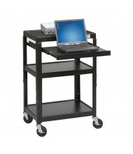 Balt 89842 Height Adjustable 1-Retractable Shelf Laptop AV Cart (example of use)
