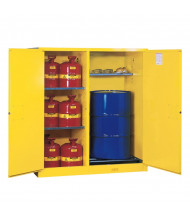 """Justrite Sure-Grip EX 115 Gal Self-Closing Drum Safety Storage Cabinet, 65"""" H (Contents Not Included)"""
