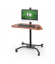 """Balt WOW Flexi-Desk Lever 42"""" Height Adjustable Mobile Workstation (Does not include computer components)"""
