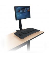Balt Up-Rite 91113 Single Monitor Rear Desk Sit-Stand Converter Desk Mount
