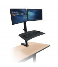 Balt Up-Rite 91114 Dual Monitor Rear Desk Sit-Stand Converter Desk Mount