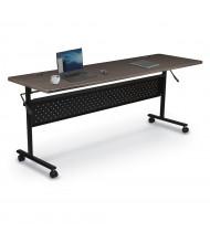 "Mooreco Essentials Economy 60"" W x 24"" D Nesting Flipper Training Table (Shown in Black)"