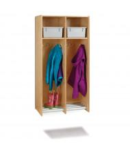 Jonti-Craft 2-Section Hanging Locker, Platinum Tubs