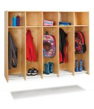 Jonti-Craft 5-Section Hanging Locker