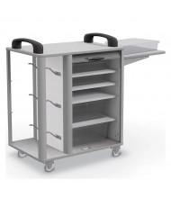 """Balt Makerspace 48"""" W 4-Shelf Spool Hook School 3-D Printer Cart"""