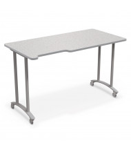 "Balt 60"" W x 30"" D Mobile Makerspace School Table (Shown in Grey Nebula/Platinum)"