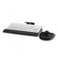 """Fellowes 17"""" Track Standard Keyboard Tray, Black/Grey (Keyboard and mouse not included)"""