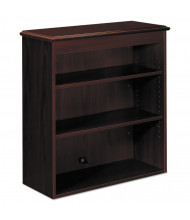"HON 94000 Series 36"" W 3-Shelf Bookcase Hutch, Mahogany"