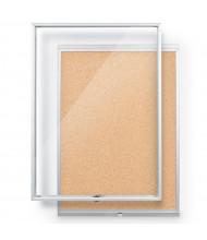 Mooreco Essentials Economy 2' x 3' Enclosed Cork Bulletin Board Cabinet