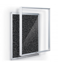 Mooreco Essentials Economy 1.5' x 2' Enclosed Rubber-Tak Bulletin Board Cabinet