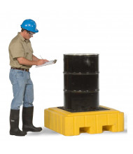 """Ultratech 9607 P1 Plus 40"""" W x 40"""" L Spill Pallet with Drain, 62 Gallons (example of application)"""