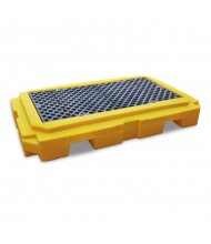 """Ultratech 9611 P2 Plus 65.5"""" W x 40"""" L Spill Pallet with Drain, 66 Gallons"""