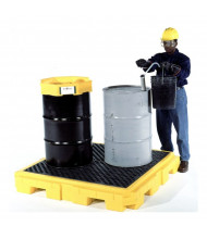 """Ultratech 9630 P4 Plus 62"""" W x 62"""" L Spill Pallet without Drain, 75 Gallons (example of application)"""