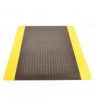 NoTrax 979 Saddle Trax 3' Wide Laminate Back Vinyl Anti-Fatigue Floor Mat, Black/Yellow