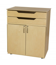 Wood Designs Childrens Classroom Mobile Storage Unit, Adjustable Shelves