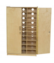 Wood Designs Childrens Classroom 30-Compartment Charging Storage Station