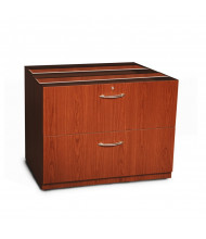 """Mayline Aberdeen ACLF36 36"""" W 2-Drawer Credenza Lateral File (Shown in Cherry)"""