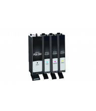 Clover Remanufactured Black, Cyan, Magenta, Yellow Ink Cartridges for Canon PGI-250/CLI-251 4-Pack