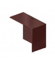 """Global Genoa G2040FR 40"""" Return with Pedestal, Right (Shown in Mahogany)"""