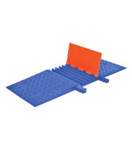 "Checkers 5-Channel 1.325"" Guard Dog Cable Protector with ADA Ramp (Shown in Orange / Blue)"