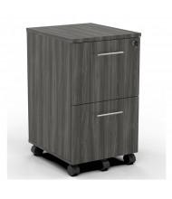 Mayline Medina 2-Drawer Filing Mobile Pedestal Cabinet (Shown in Grey Steel)