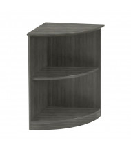 Mayline Medina MVBQ2 2-Shelf Bookcase (Grey Steel)