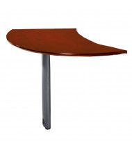 "Mayline Napoli NEXTR 47"" W Curved Desk Extention, Right (Shown in Sierra Cherry)"