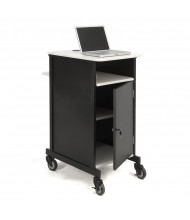 Oklahoma Sound Jumbo AV Presentation Cart, Ivory White