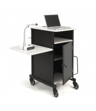 Oklahoma Sound Jumbo Plus AV Presentation Cart, Ivory White